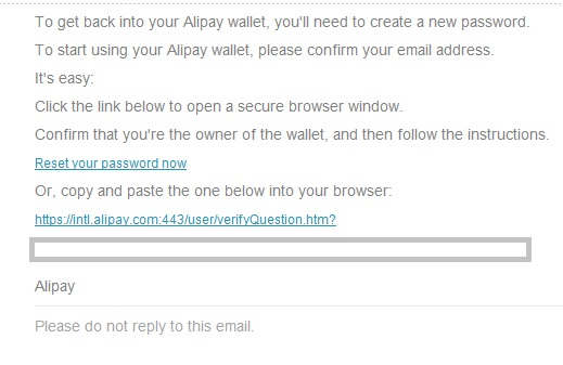 забыл пароль alipay